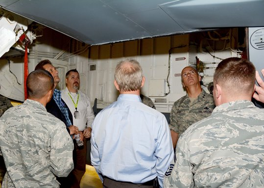 KC-135 customer service visit